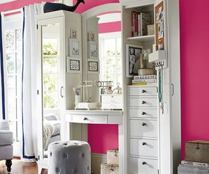 house, pink, and vanity image
