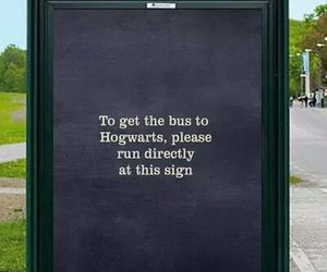 funny sign, hilarious, and harry potter image