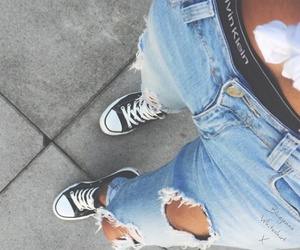 Calvin Klein, converse, and girl image