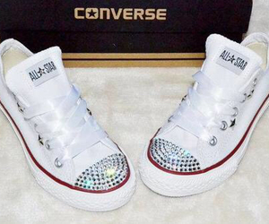 converse, glitter, and shoes image