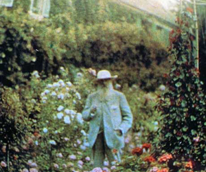 claude monet and garden image