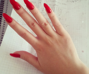 fancy, nails, and red image