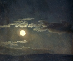 moon, sky, and art image