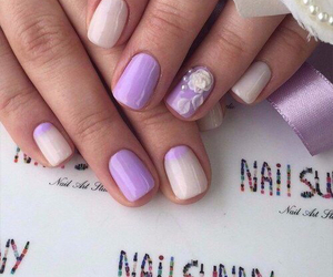 nails, purple, and manicure image