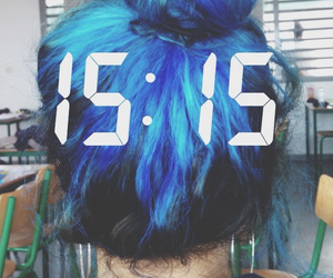 blue, blue hair, and grunge image