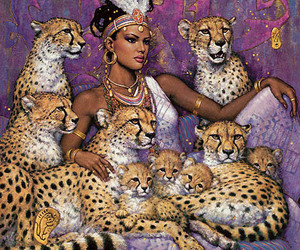 art, Queen, and leopard image