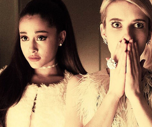 emma roberts, ariana grande, and fashion image