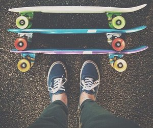 vans, skate, and skateboard image