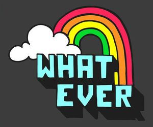 rainbow, whatever, and clouds image
