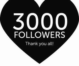 followers, thank you, and 3k image