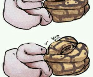 snake and cute image