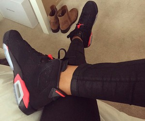 black, fashion, and jordan image