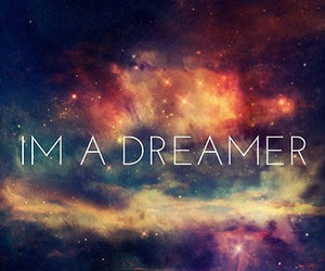 Dream, dreamer, and galaxy image
