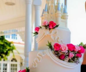 wedding, cake, and castle image
