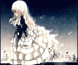 anime, girl, and hair image