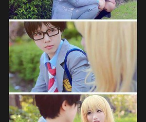 cosplay, arima kosei, and anime cosplay image