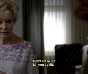 jessica lange, ahs, and text image