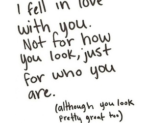 love, quotes, and look image