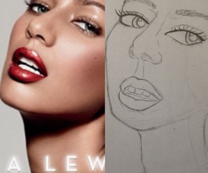 art, drawing, and leona lewis image