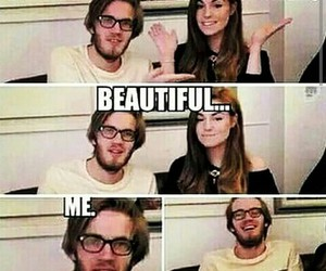 pewdiepie, funny, and marzia image
