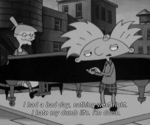 hey arnold, arnold, and bad day image