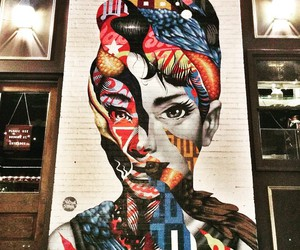 art, audrey hepburn, and new york image