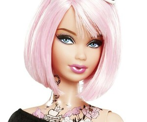 barbie, pink, and punk image