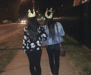 best friends, burger king, and crown image