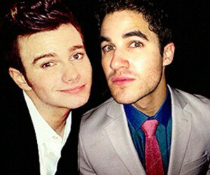 darren criss, chris colfer, and klaine image