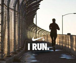 nike, run, and running image