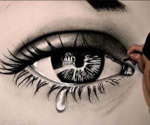 drawing, eye, and art image