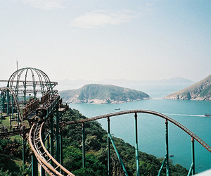 photography, Roller Coaster, and rollercoaster image