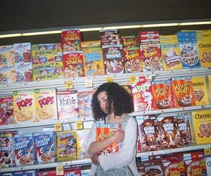 cereal, girl, and grunge image
