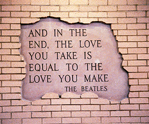 love, quote, and beatles image