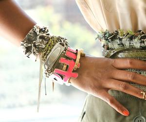 fashion, bracelet, and nails image