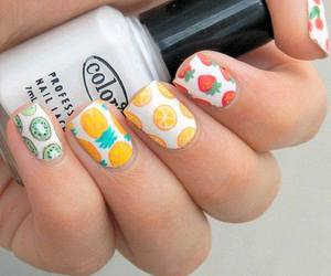 nails, summer, and fruit image