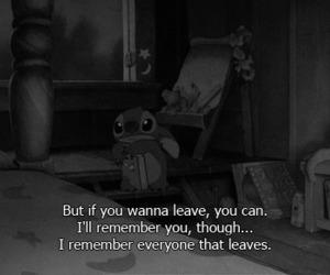 sad, quotes, and stitch image