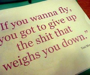quote, fly, and text image