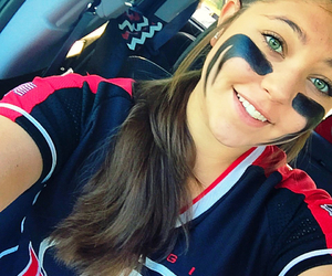 softball and eyeblack image