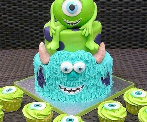 cake, cupcake, and monster image