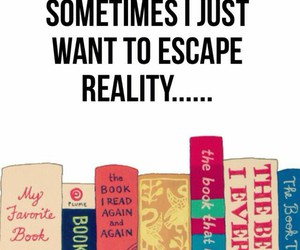 book, escape, and reality image