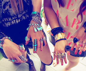bracelets, friends, and golden image