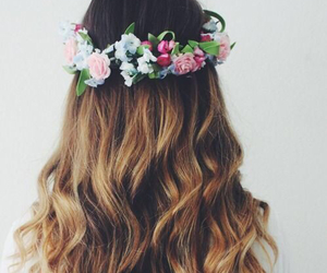 flowers, hair, and cute image