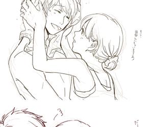 couple, otoharu, and ittoki otoya image