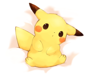 anime, cut, and picachu image