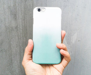 girl, mint, and ombre image