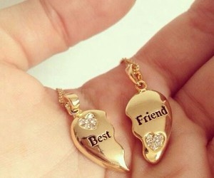 best friends, friends, and gold image