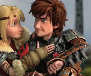 astrid, hiccstrid, and hiccup image