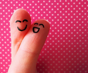 fingers, pink, and smile image