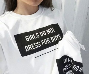 girl, boy, and white image